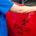Photo of biohazard bag.