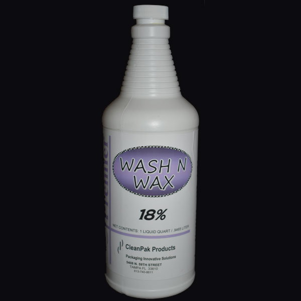 Wash N Wax - small white bottle.