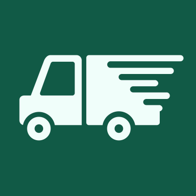 Green square with truck icon.